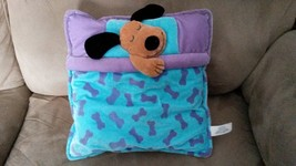 "PILLOW with DOG Blue Purple RARE PROMO Brand New Plush 11"" VHTF Promotional - $39.99"