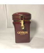 GEVALIA COFFEE CANISTER, BURGUNDY RED CERAMIC, SWEDEN - $22.99