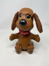 Vintage 1982 Ideal Rub A Dub Doggie Puppy Dog Toy Swivel Head Bath Cloth Ears - £14.39 GBP