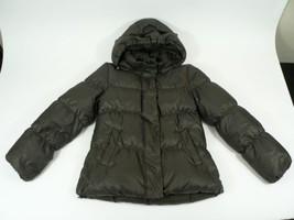 Gap Shiny Bronze Puffer Coat Womens Size Medium Insulated Winter Jacket w Hood - $50.00