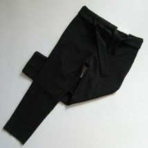 NWT Ann Taylor The Ankle Pant in Black Tie Waist Crepe Crop Trousers 4P - $31.99