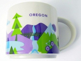 "Starbucks Coffee Mug OREGON ""You Are Here Collection"" YAH 2015 New in Box - $18.65"