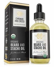 Certified Organic Beard Oil 2oz | For Softer, Smoother Facial Hair Growth | Leav