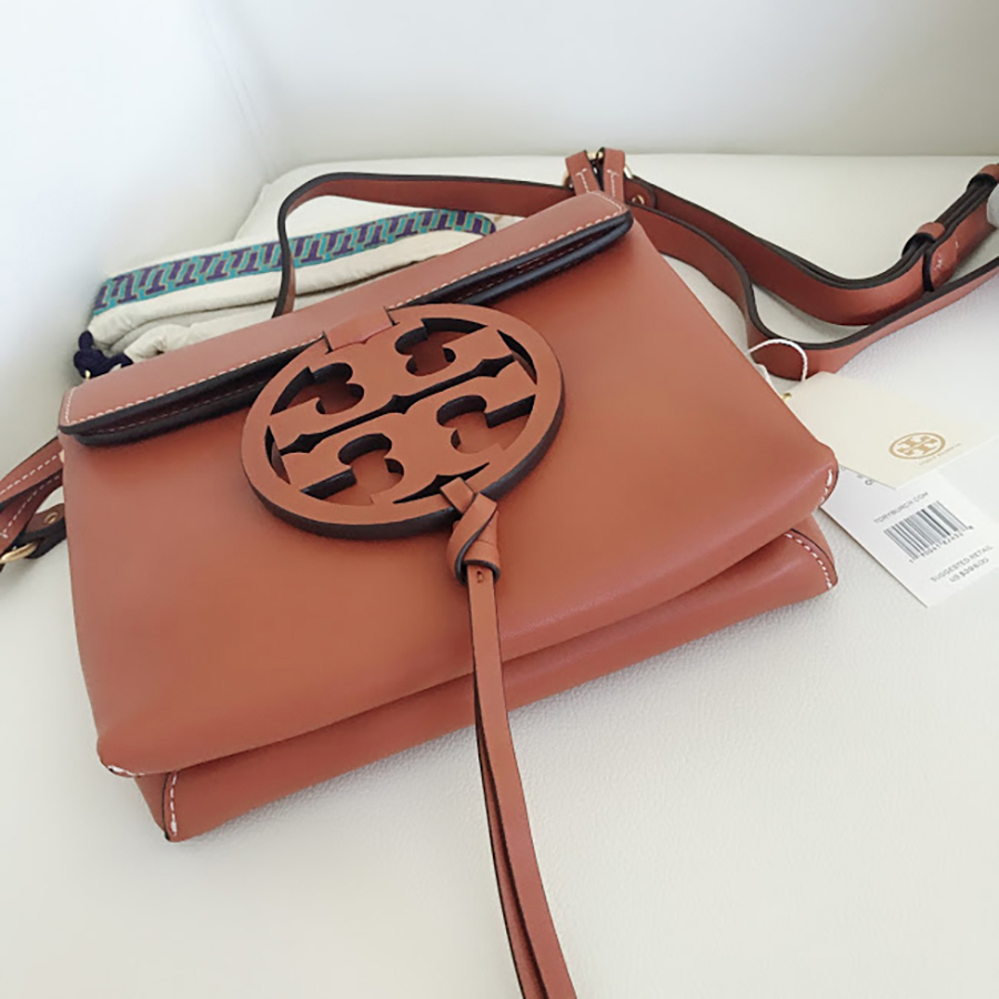 Tory Burch Fleming Convertible Chain Large Shoulder Bag - Brown image 7