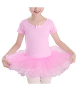 Kid Girl Gymnastics Ballet Tutu Dancer Leotard Dress Cute Bowknot Dancewear - $21.67