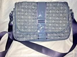 Vera Bradley Gray Microfiber Large Tote Shoulder Hand Bag Beautiful - ₹2,093.50 INR