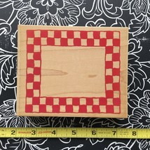 All Night Media Checkerboard Frame Large Rubber Stamp 550k17 Wood Mount New - $7.80