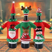 New Year Decoration Red Wine Bottle Cover Office Sweater Party Gifts Hom... - €7,63 EUR