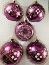 5 Kurt Adler Traditional Christmas Hand Blown Glass Ornaments made in Columbia - $8.31