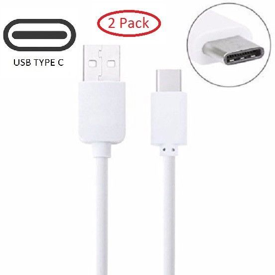 2x 3ft OEM USB Type C Fast Charging Cord for Galaxy S8 Note 8 LG G6