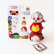 Disney Marvel Tsum Tsum Vinyl Figure 3 Pack & 3 Plush: Ant-Man, Iron Man... - $17.00