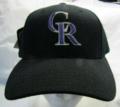 NWT MLB PUMA RAISED WOOL REPLICA HAT - COLORADO ROCKIES BLACK - $12.95