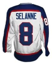Custom Name # Winnipeg Jets Wha Hockey Jersey New White Teemu Selanne Any Size image 2
