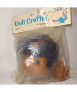 """Doll Craftin' 4"""" Angie Head Hands 163-95 New Old Stock Black Hair - $9.99"""