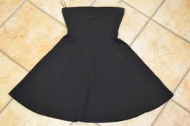 Express Black Bandeau Halter Dress Mini Womens Xs Summer Flare Skirt Ln - $11.25