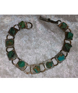 Bracelet vintage faux turquoise 7 inch lovely - $22.00