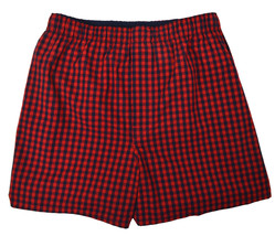 """Gap Mens Red And Blue Gingham Plaid 4"""" Boxers 1 Pc Set Sz X-Large XL 8467-3 - $10.93"""