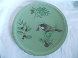 Pfaltzgraff Winterwood Luncheon Plate with Chickadee, Excellent Condition - $9.00