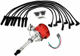 BBC CHEVY 396 427 HEI Distributor with SPARK PLUG WIRES + HEI Pigtail harness