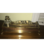 Wood with Brass Adorned Inkwell and Writing Stand - $6,435.00