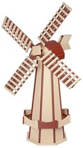 "41"" POLY WINDMILL Ivory & Cherrywood Working Dutch Garden Weathervane Am... - £239.24 GBP"
