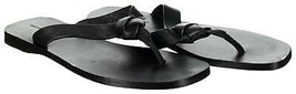 Frye Company Women's Perry Knot Thong Flip Flop Sandals Flats 6.5 Black - $73.59
