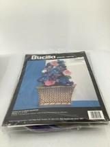 "Bucilla Plastic Canvas Basket of Flowers Doorstop Kit 8""X11""X3""1994 6135 Vtg - $8.59"