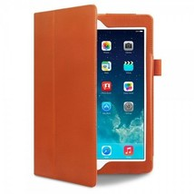 iPad Air Vintage  Leather Book Case Folio Built in Stand Orange   iPEX™ ... - $20.05