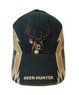 Deer Hunter Hat Ball Cap Preowned Dominate The Woods Hook Loop Back Buck... - $12.26