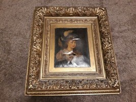 Antique 19TH Century Ornate Gold Picture Frame Art Painting Photo Print ... - $12.957,91 MXN