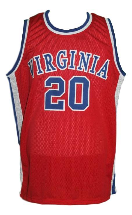 Mike barrett  20 virginia squires aba basketball jersey red   1