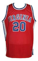 Mike Barrett #20 Virginia Squires Aba Retro Basketball Jersey New Red Any Size image 1