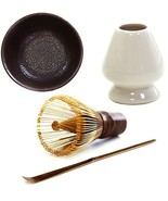 Mocha ChaDao MATCHA Traditional Tea Set | Purple Bamboo Whisk and Scoop ... - $32.53