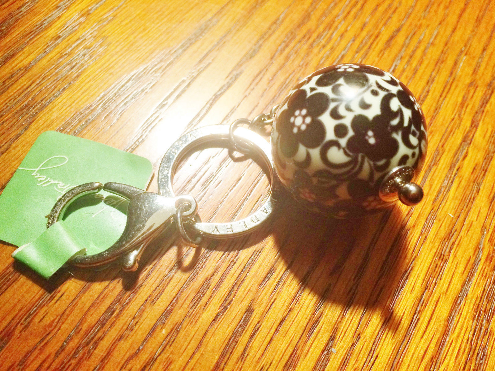 Vera Bradley Have a Ball Keychain in NIGHT AND DAY, New with Tags