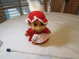 Russ Troll Trolls doll RARE Berrie 18447 Grey white hair Mrs. Claus Chri... - $24.05