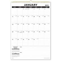 "Nekmit Monthly Wall Calendar 15-1/2""x 22-3/4"", 2019 Large Size, Wireboun... - $18.70"