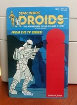 "Custom 6X9 Star Wars Droids Snowtrooper Card Back For 3.75"" Figures - $14.00"