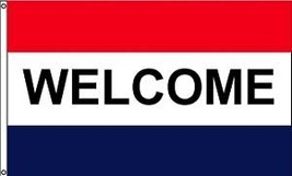 "WELCOME 3X5' BANNER FLAG NEW 3'X5' SIGN 36X60"" 3 X 5 - $9.85"