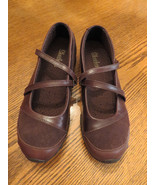 NWT Skechers Mary Jane Step Up Womens Leather Shoes Bikers Brown Suede 7... - $39.59