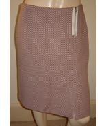 ANN TAYLOR Pink/Brown/Beige Geometric Print Stretch Wool Blend Skirt (6P... - $19.50