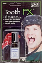 Tooth Black Tooth FX Mehron Paint for Theatrical Use on Teeth USA - $8.95