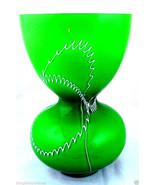 Art Glass Green Vase Vintage  - $70.79