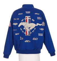 Authentic Mustang Racing Embroidered Cotton Jacket JH Design Blue New - $139.99