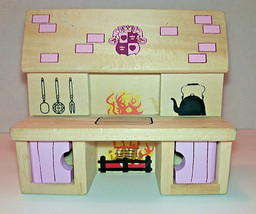 Melissa and Doug Wooden Furniture ~ KITCHEN ~ Castle Playset~Pink - $5.93
