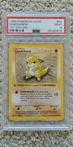 Pokemon Sandshrew 62/102 1st Edition Base Set PSA 9 1999 TCG Game Shadowless - $31.99