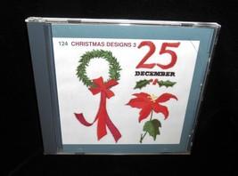 Embroidery Memory Card 124 Christmas Designs 3 Janome Memory Craft 29 de... - $19.00