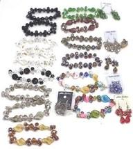 VINTAGE RHINESTONE Glass Crystal Beads LOT Jewelry SETS - $49.99