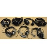 Batch of 7 damaged headphones gaming headsets - $57.22