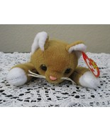 Ty Beanie Baby Nip the Cat 4th Generation With 3rd Generation Tush USED - $7.91