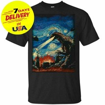 Godzilla Starry Night T-Shirt for Fan size S-4XL Black - $14.99+